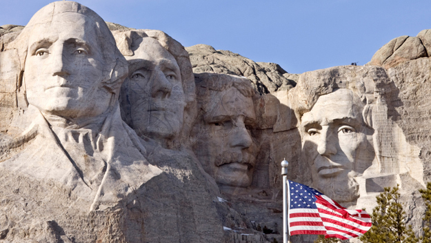 Mount Rushmore National Memorial, Mount Rushmore, July 4th,